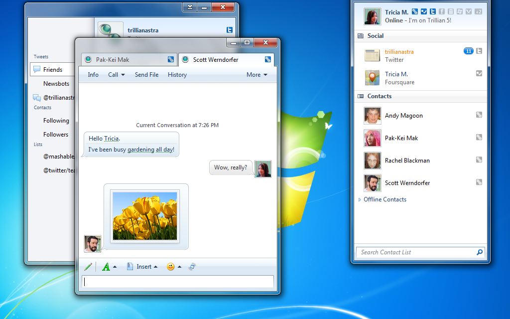 Trillian Astra 5.3 adds in-game chat support