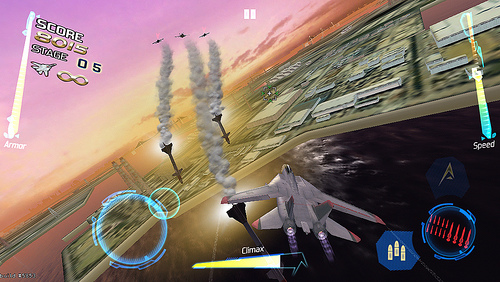 After Burner Climax landing on iOS