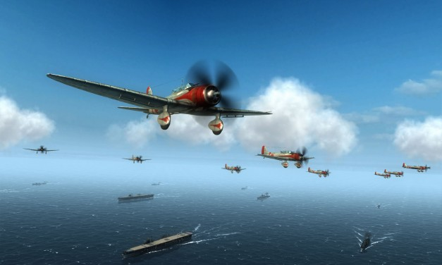 Air Conflicts Pacific Carriers flies on PS4