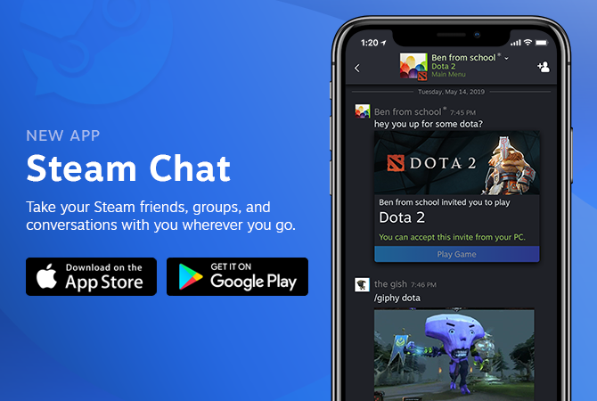 New Steam Chat mobile app is available